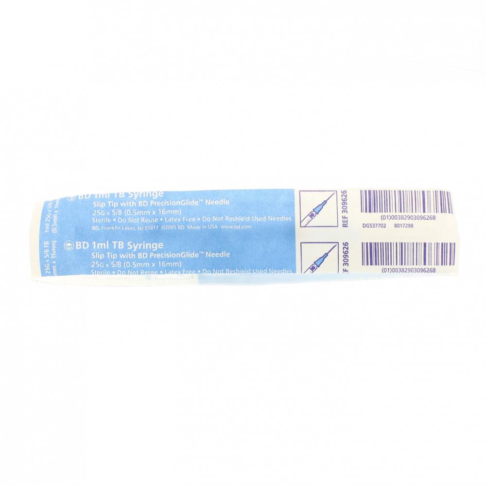 TB Syringe 1 mL 25G x ⅝